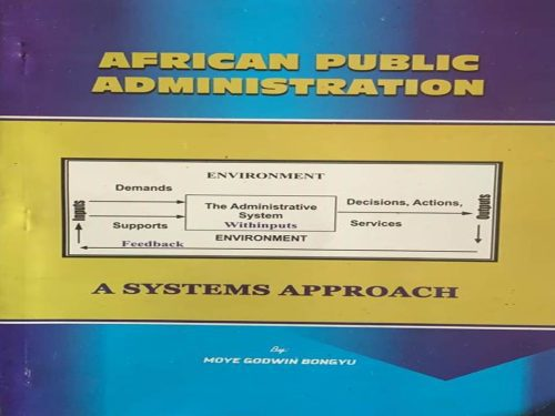 African Public Administration by Prof Moye Godwin